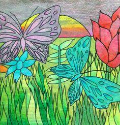 7th grade Rousseau inspired tempera batik
