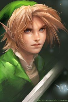 Link art, from Legend of Zelda.