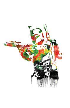Boba Fett Print by Jon Hernandez #starwars #bobafett #art