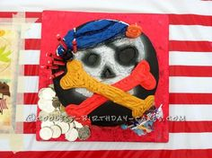 Easy Pirate Cake... This website is the Pinterest of birthday cake ideas