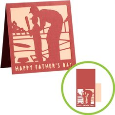 Give dad a Baseball card this Father's Day! #cricut