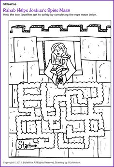 Rahab Helps Joshua's Spies Maze - Kids Korner - BibleWise