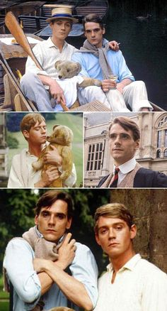Jeremy Irons & Anthony Andrews in the 1981 British television serial Brideshead Revisited. The 11-part series aired in the U.S. in 1982 on PBS.