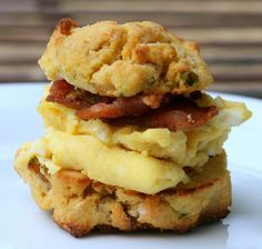 #paleo Pumpkin, Apple, Bacon and Chive Biscuit: ¾ cups coconut flour; 1 tsp baking soda; ¼ tsp salt; ½ cup coconut oil; ½ cup fresh roasted pumpkin puree, butternut or acorn squash; 3-4 T coconut milk; 3 organic eggs; ¼ green onions chopped, thinly sliced; ¼ cup very finely chopped tart apples; ¼ bacon pieces; OPTIONAL If dairy is OK, ½ cup of cheddar cheese