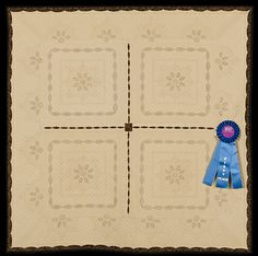 2013 Quilt Expo Quilt Contest, 1st Place, Category 6, Wall Quilts, Hand Quilted Any Type: Vintage Values, Linda Roy, Knoxville, Tenn.