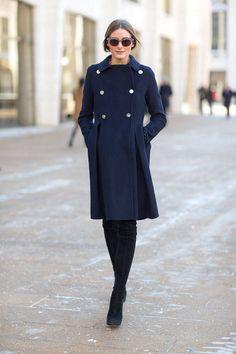 black and navy | Olivia Palermo