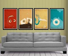 DisneyPixar's   Posters Set by posterexplosion on Etsy