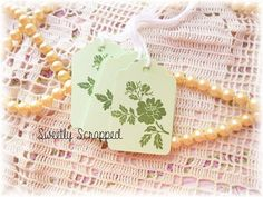 Green Floral Botanical Print Tags Crisp by SweetlyScrappedArt, $3.50