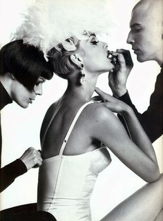 "80s-90s-supermodels: "" ""White Winter"", Vogue Italia, 1991 Photographer : Steven Meisel """