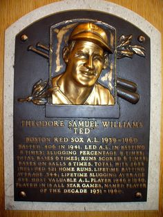 Ted Williams- Hall of Fame
