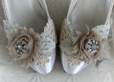 """SERAPHINA vintage lace shabby chic ivory and by TheVictorianGarden, $157.00  """"I dreamed of a wedding of elaborate elegance,  A church filled with family and friends.  I asked him what kind of a wedding he wished for,  He said one that would make me his wife.""""  ~Author Unknown"""