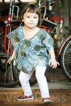 Toddler kaftan caftan kids top blue 3T top 24 to 36 by VividDress, $15.00