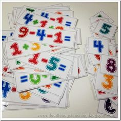 3 digit maths facts cards - lots of great ideas on the Doodle Bugs Teaching blog