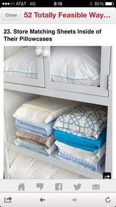 Place matching sheets inside matching pillow cases