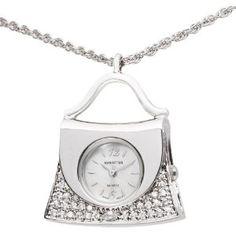 Manhattan Women's CM204201RHMP Silver-Tone Handbag Necklace Watch --- http://www.pinterest.com.mnn.co/5jr