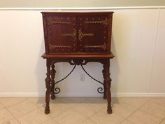 Mahogany Secretary / Ornate Carved Wood Desk / Solid Wood Desk / Small Desk on Etsy, $900.00
