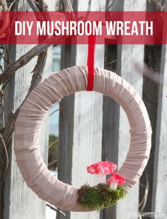 DIY Mushroom Wreath | Lemon Jitters