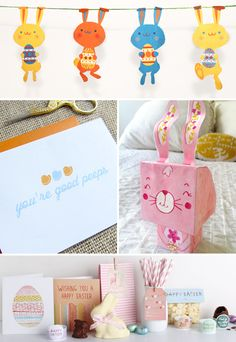 "Free Printable Easter Goodies (I ♥ the  ""you're good peeps""!)"