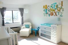 Project Nursery - abc wall2