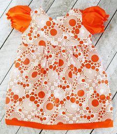 Free pattern: Puff sleeve dress for toddler girls
