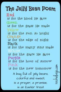 Jelly Bean Poem and Printable #easter #gospel