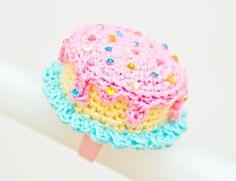 Pink Mini Crochet Cake Ring $30.00