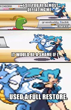 funny pokemon. I think of the yogscast every time...