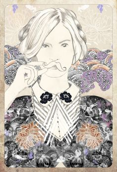 And miss moustache