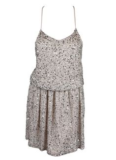Copious: Alice + Olivia Womens Dusty Pink Embellished Racerback Dress S