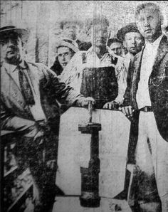 "Maybe you'll see this story told in a movie one day: Coal miners display bombs dropped by the govt of United States on its own citizens during the Battle of Blair Mountain, the largest armed uprising in the US after the Civil War.  ""For five days in 1921, in Logan County, West Virginia, between 10-15k coal miners confronted an army of 30k police and strikebreakers backed by coal operators."" Battle ended after about a million rounds, with United States Army intervening by Presidential Order."