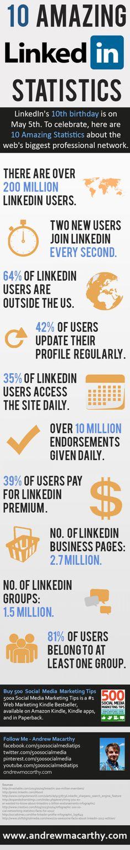 10 Amazing LinkedIn Statistics For 2013 Infographic #linkedin