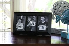 We Love You Photo Frame - Crafts by Amanda