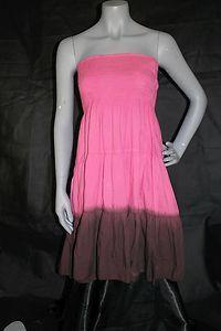 Clubz Collection Pink Brown Hippie Boho Halter Top Dress Size S | eBay