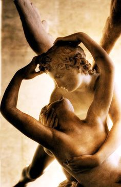 Psyche revived ~ Cupid's kiss detail  ~ Antonio Canova