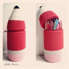 crocheted with a plastic bottle...great idea - fill with preped labels and other end of year teacher gifts (Buxton still 75cl may be a good shape and size). - for Ann and Mrs H end of yr