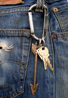 Levi 501 and a carabiner key ring