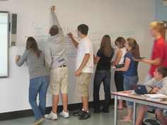 IdeaPaint dry erase wall in high school