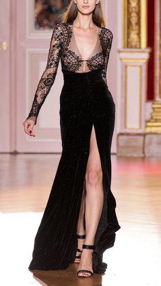 Zuhair Murad '12 couture. long dresses, lace, fashion, inspiration, zuhair murad, gowns, runway, black power, haute couture