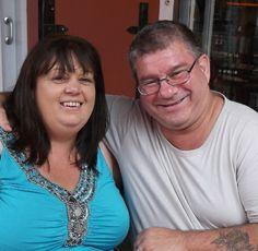 Andre & I on honeymoon. Mario's Restaurant, Knysna Waterfront