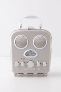 SUNNYLIFE, SWANSEA BEACH RADIO: also functions as speakers for ipods/phones which can be placed on the inside.