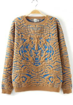 Animal print sweater #TigerPrint