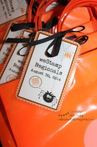 weSTAMP Regionals :: Confessions of a Stamping Addict Lorri Heiling Team Event Bag Tags MDS