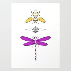 Two Insects Art Print by Ukko - $16.64