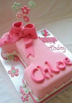 Floral number cake   Flickr - Photo Sharing!