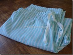 sew your own pajama pants. Great tutorial from crafting-cousins.blogspot.com