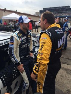 Ryan and Johnson having a heated argument after the race at Michigan!