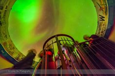 The aurora of February 3-4, 2014 seen from inside a plexiglass aurora dome in Churchill, Manitoba at the Churchill Northern Studies Centre. Credit and copyright: Alan Dyer.