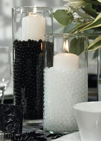 These polymer pearls are created by simply adding water. This causes them to expand into perfect miniature spheres. By selecting from a variety of colors you can use these pearls to add extra color to your decorating scheme. Use separately or mix colors in one vase for a stellar effect! David's Bridal Style 8543