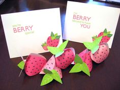Strawberry Boxes by Schlosser Designs