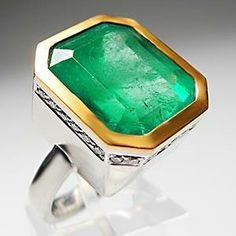Weston Jewelry Custom 15 Carat Emerald